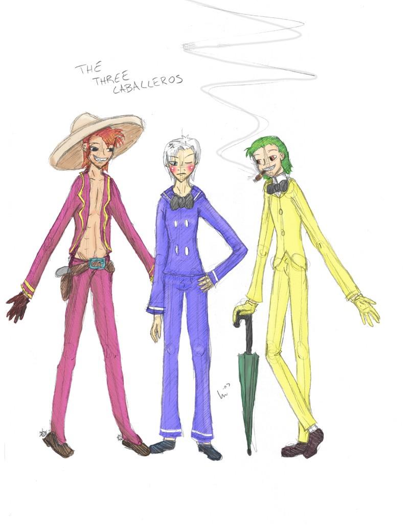 Disney - The Human Caballeros by Vegeta-Holic