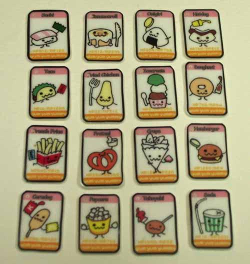 FOOD charms by Akusesu