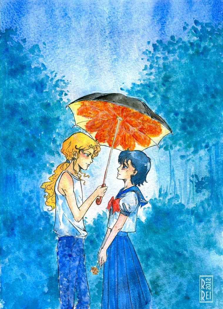 Under an umbrella by Rei-Helen