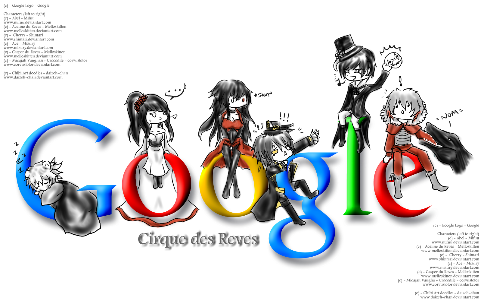 [CdR][Doodle] - Google Cirque des Reves by Daii--Chan