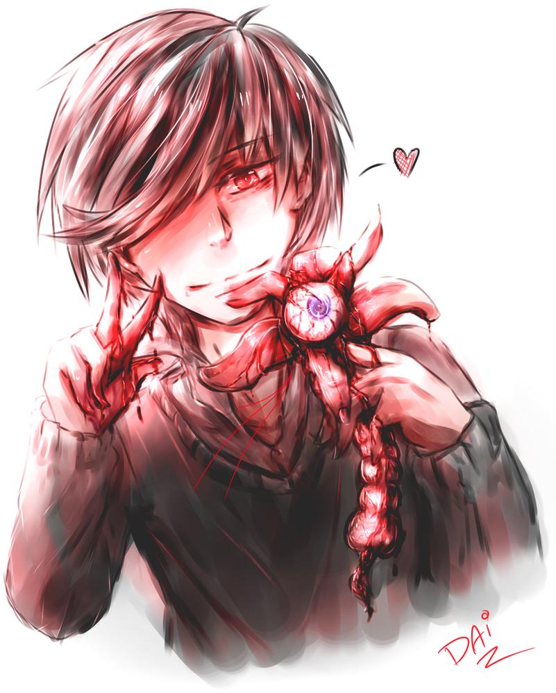 [OC][EXPERIMENTATION] Bloody Flower. by Daii--Kun