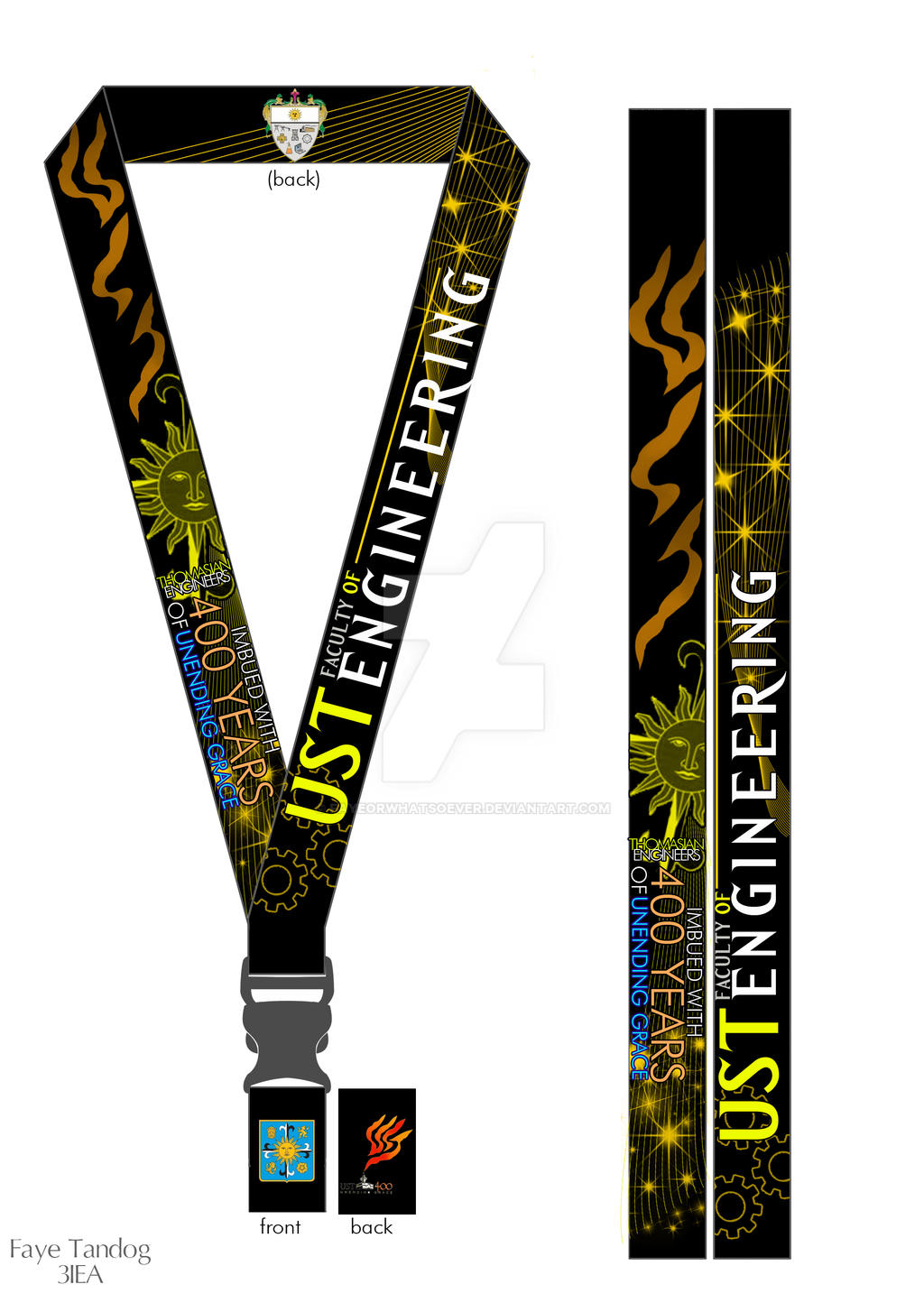 UST Engineering Quadri Lanyard By Fayeorwhatsoever On