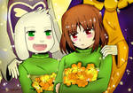 Undertale another : memory (chara x asriel )