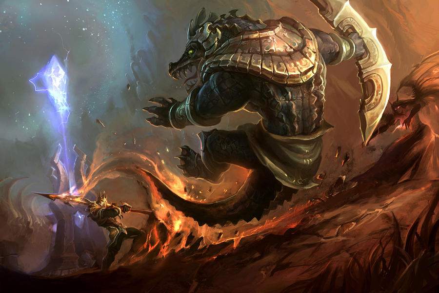 Jarvan v Renekton by su-ke