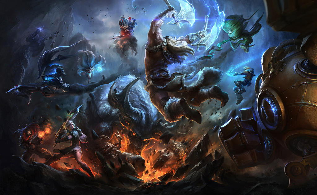 league of legends wall...