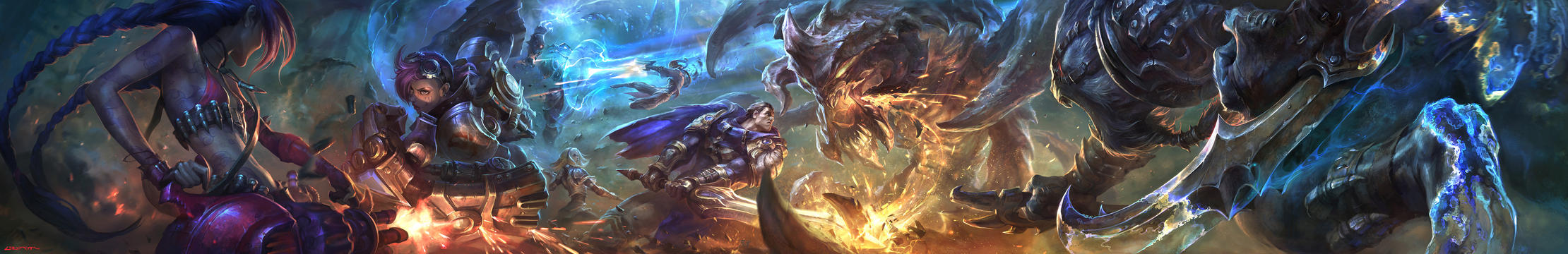 League of legends Youtube banner by su-ke
