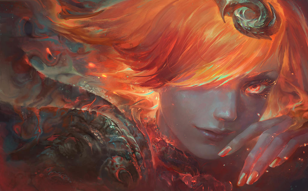 Elementalist Lux Promo Art- Fire form by su-ke