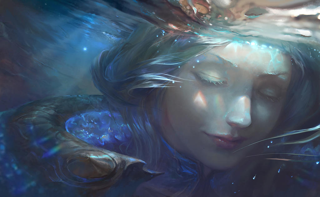 Elementalist Lux Promo Art - Water form by su-ke