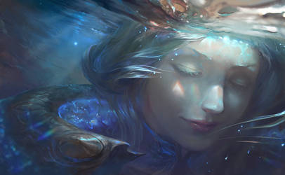 Elementalist Lux Promo Art - Water form by su-ke