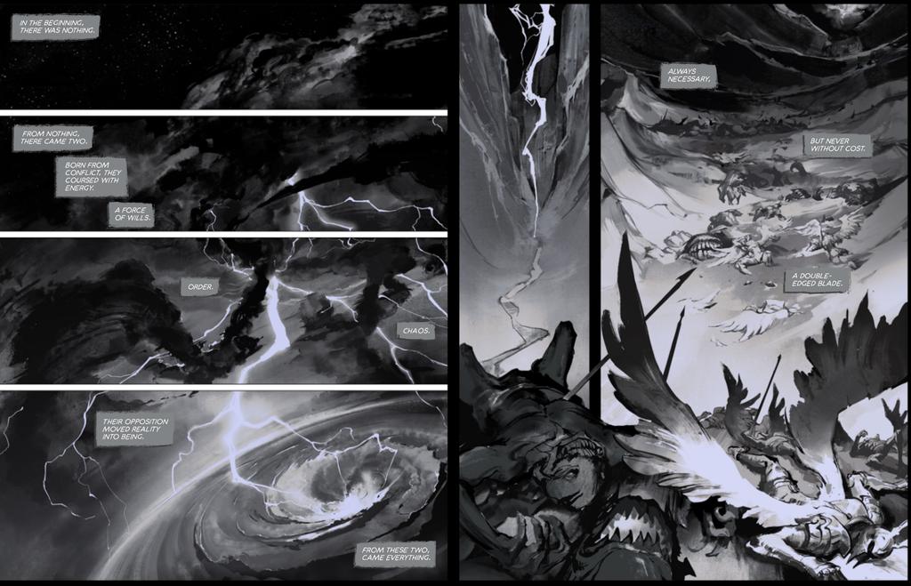 Dawnbringer vs nightbringer  comic 1-2 by su-ke