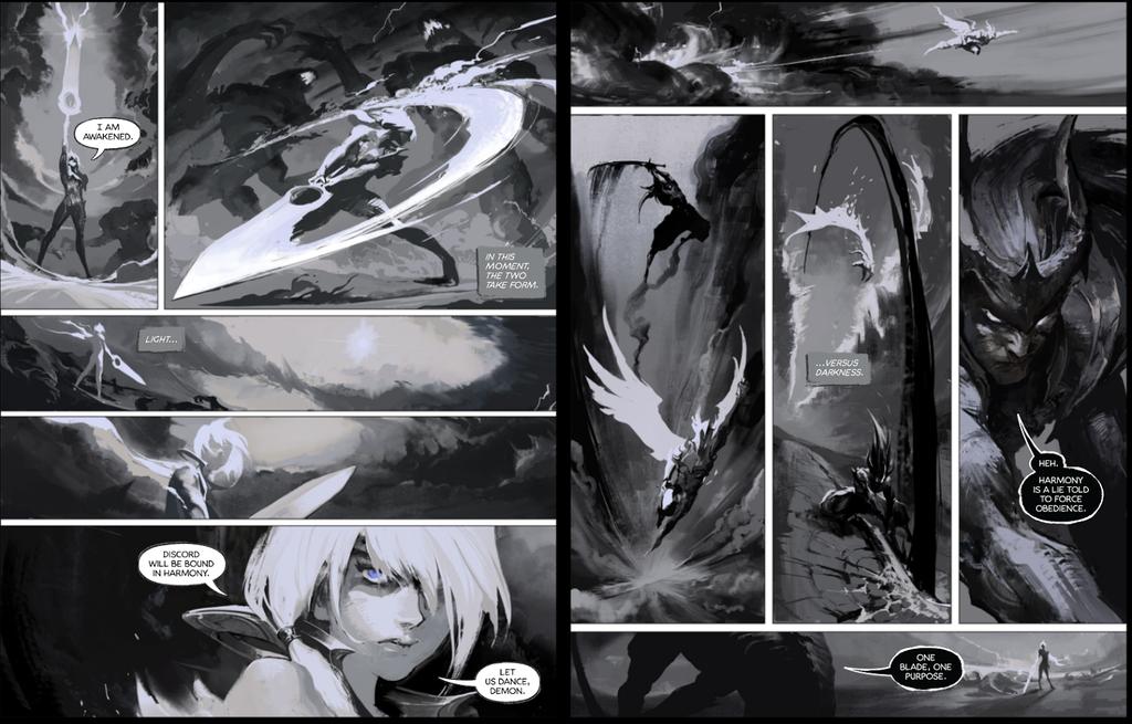 Dawnbringer vs nightbringer comic 3-4 by su-ke