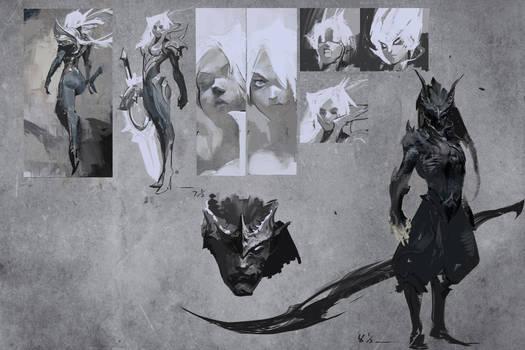 Legendary VS comic, concept art