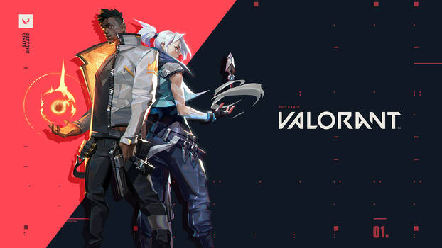 VALORANT key art Phoenix and Jett