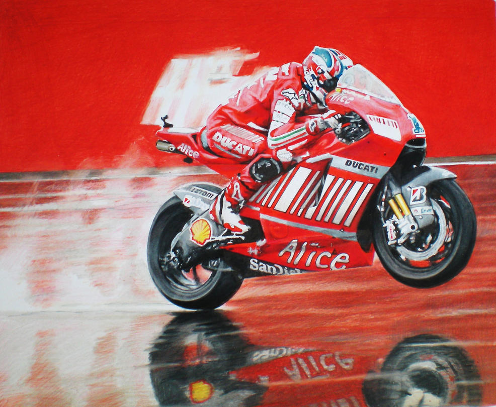 MotoGP Alice Ducati by thunder2165