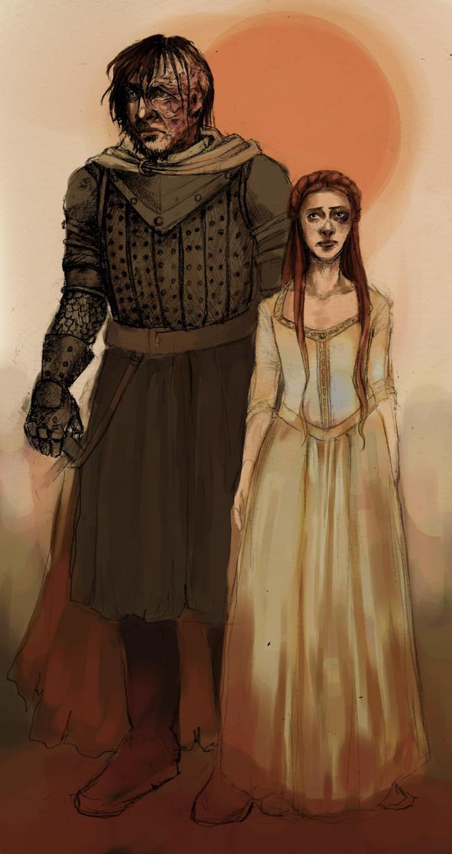 Sandor and Sansa by Miraculaa on DeviantArt