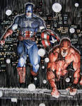 Daredevil and Captain America Night Watch
