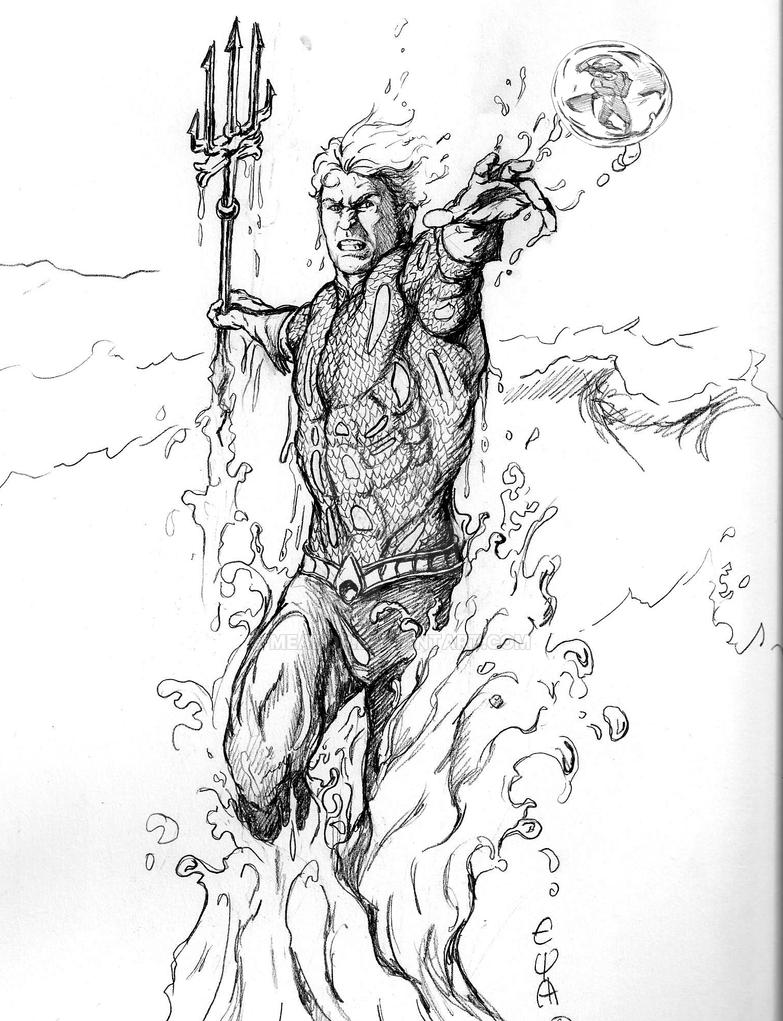 Aquaman Pencil Rough By Meador On DeviantArt