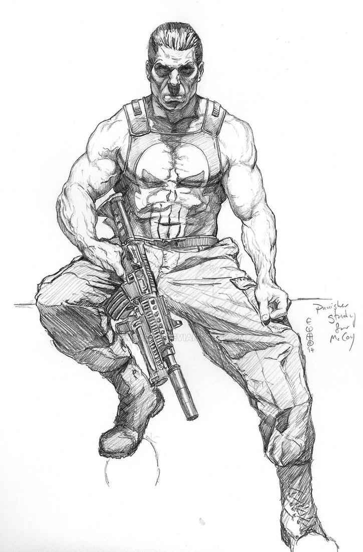 Punisher Sketch Study By Meador On DeviantArt