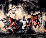 The Dark Knight meets The Marvel Knights.