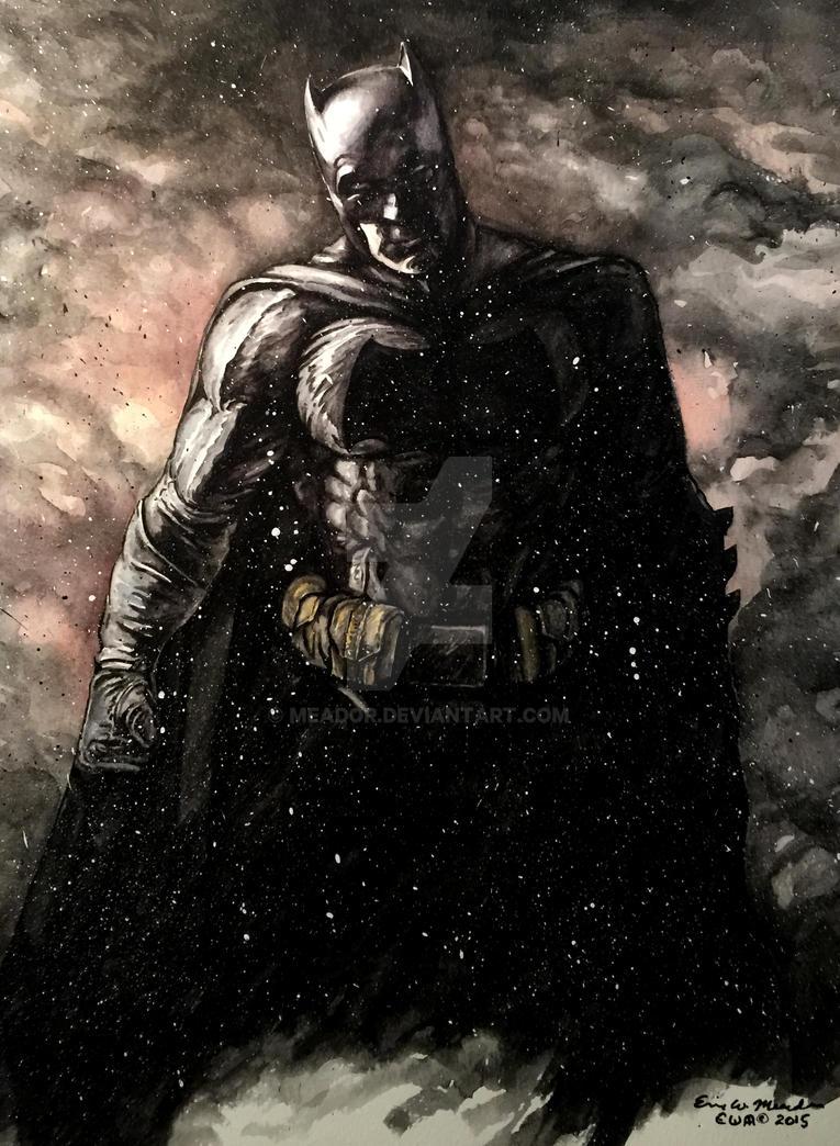Batman watercolor experiment by Meador