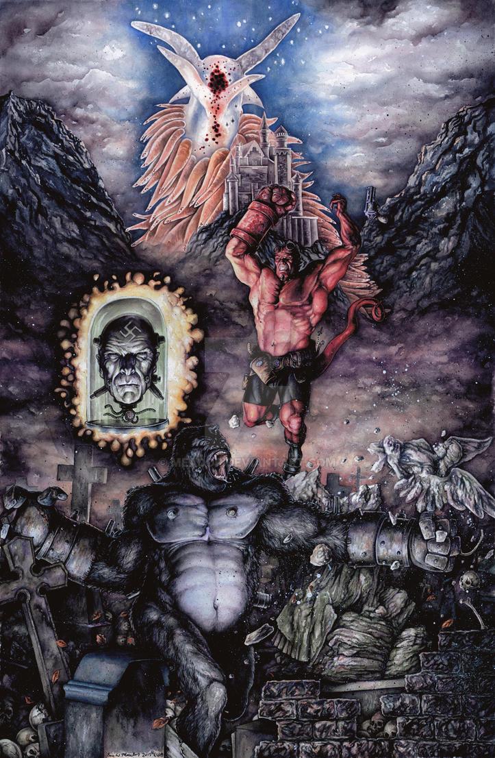 Hellboy v Kreigaffe by Meador