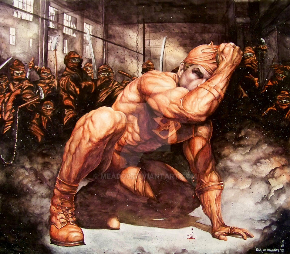 Daredevil vs. The Hand by Meador