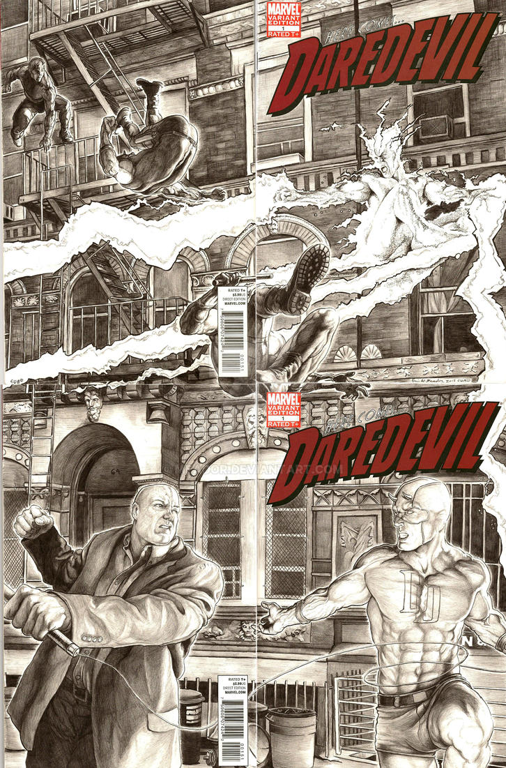 Daredevil v. Kingpin v. Electro by Eric Meador by Meador