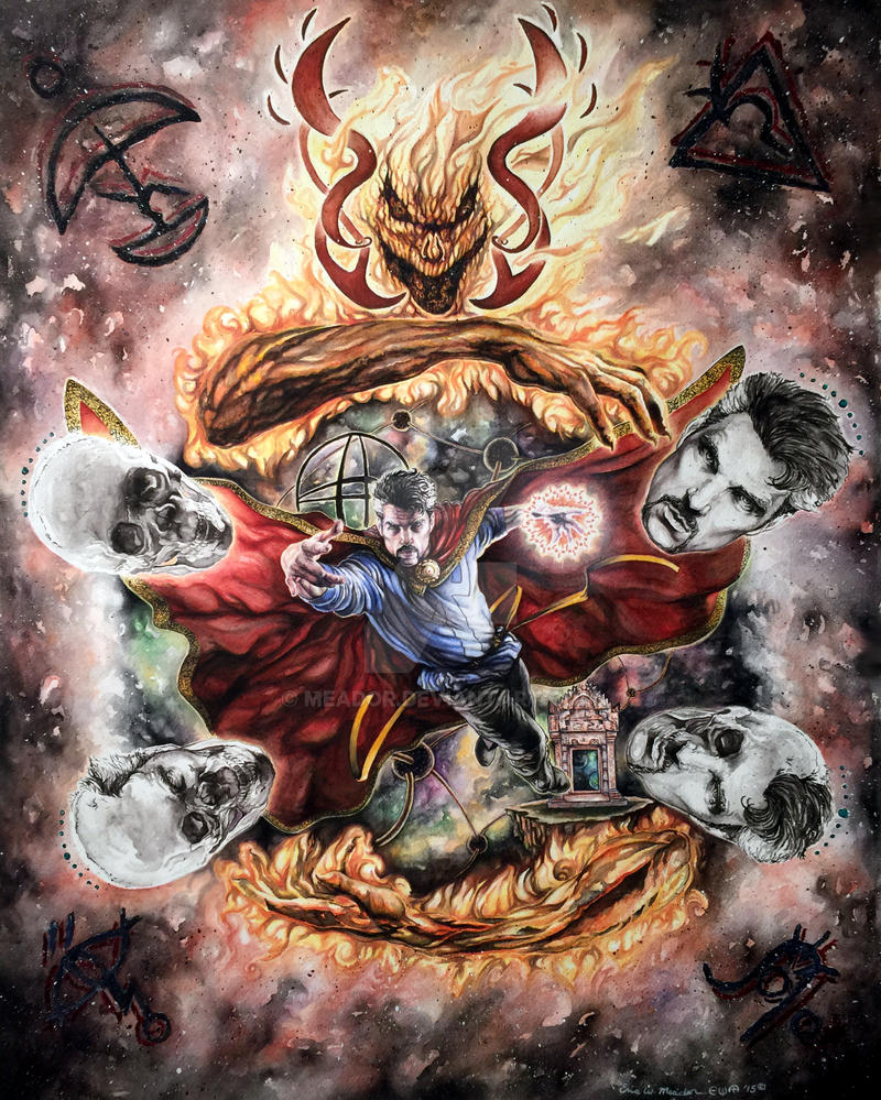Doctor Strange in the hands of Dormammu by Eric Me by Meador