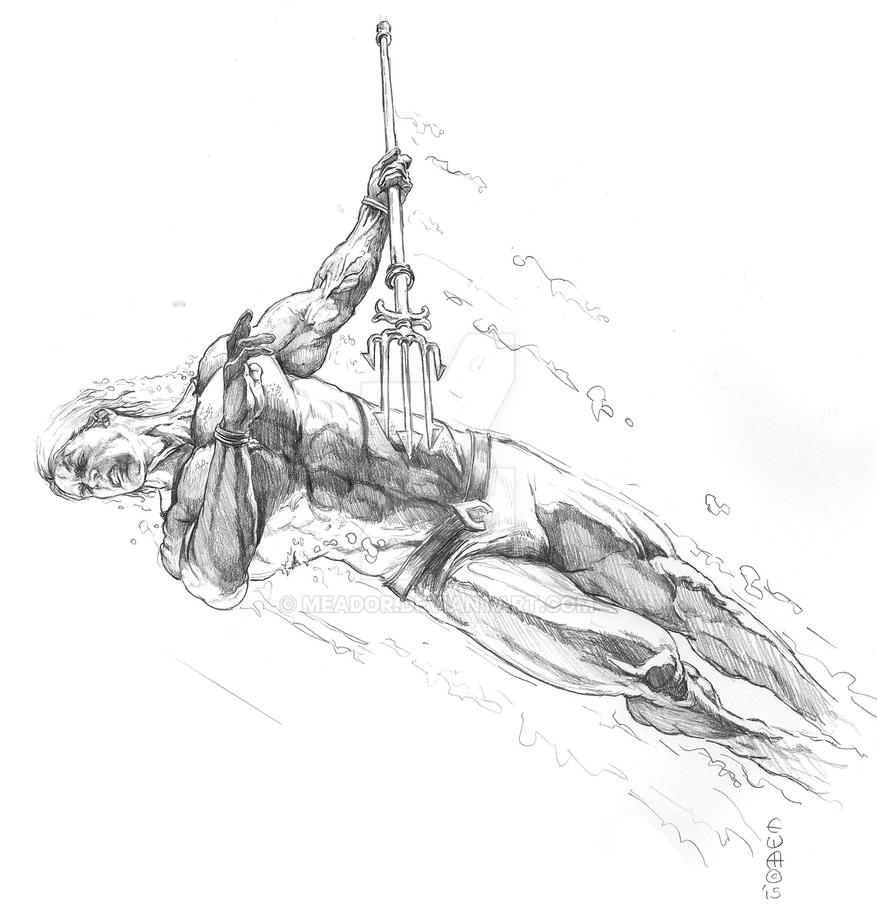 Aquaman study by eric Meador by Meador