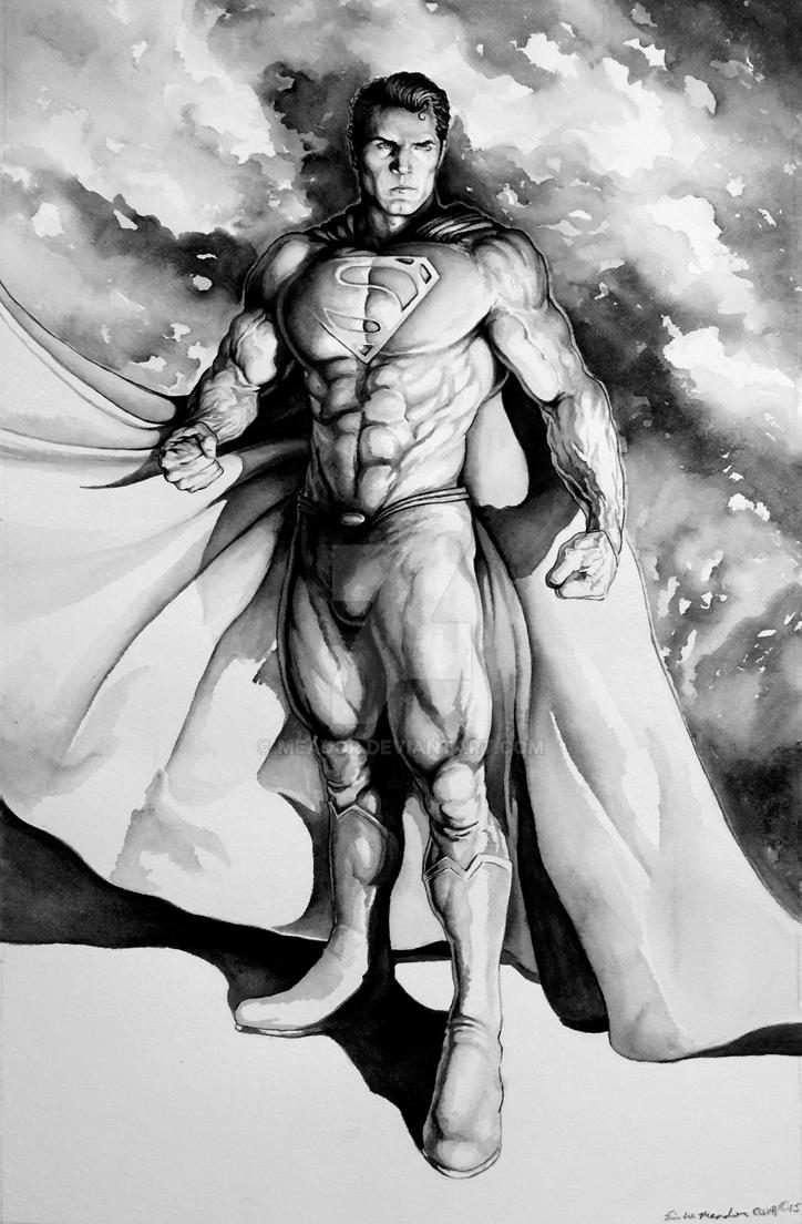 Superman Standing for Justice by Eric Meador by Meador