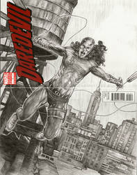 Daredevil Blank Cover by Eric Meador