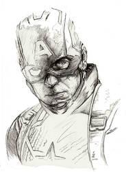 Captain America Endgame sketch by Eric Meador