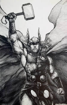 Thor Pencil by Eric Meador