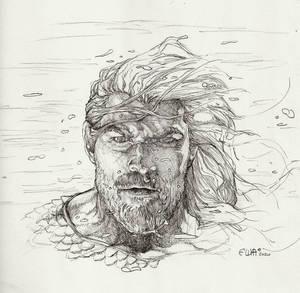 Aquaman pencil study by Eric Meador