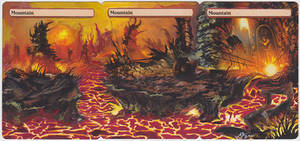 Mountain 3-Card Panorama - MtG Alter by closetvictorian