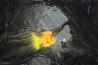 Flying Fish in Wirkwood /? by yukiyagami222