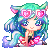 Water Fox girl: ICON: by VanileCream