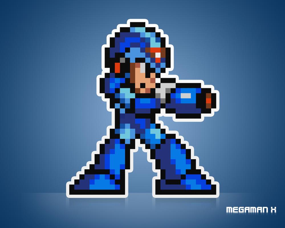 Big Pixel MegaMan x by artemanati