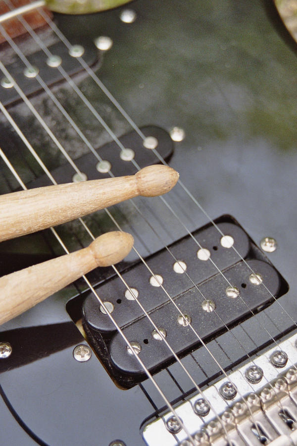 Guitar And Drums Wallpaper Guitar And Drum Sticks by