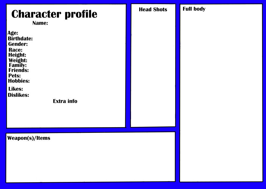 Character profile  TEMPLATE  by DawnFlight13 eN3qLs0C