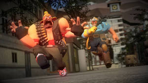 Heavy Running From Creepy Ol Engie.