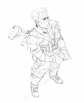 Sketch soldier 03