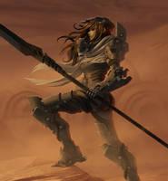 Cyborg girl 33 - In the desert by AlpYro