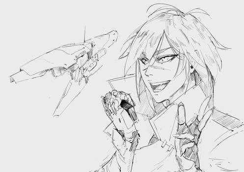 Sketch 150819 Space pirate