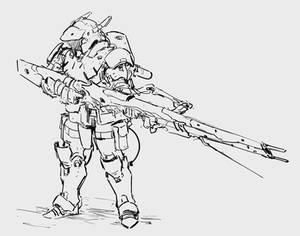 Cyborg man sketch