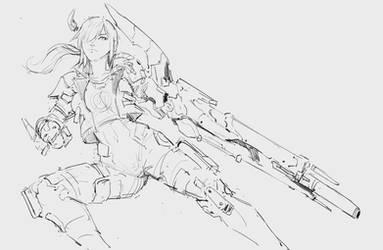Sketch 220819 Cyborg-girl