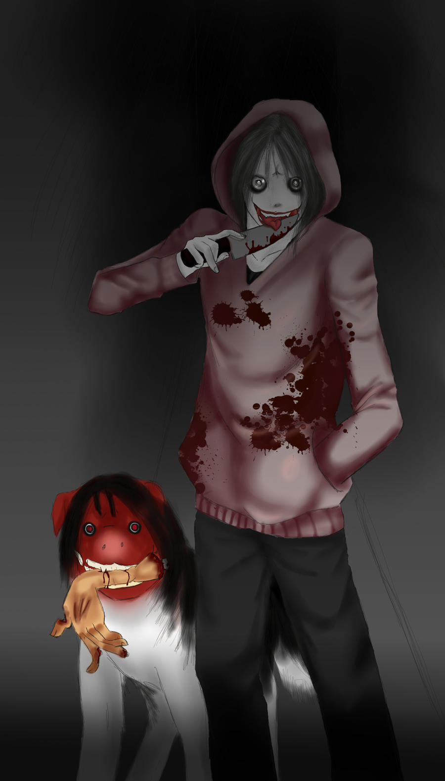 hello jeff the killer and smile dog by yukino5241 on