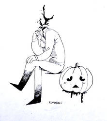 Drawlloween Day 6-Pumpkin by Kuroiyagi