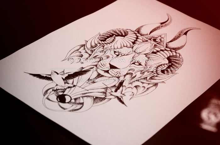 7626d391c71d0 Leo-Aries-Taurus-Gemini - /FIN commission sketch/ by quidames on ...