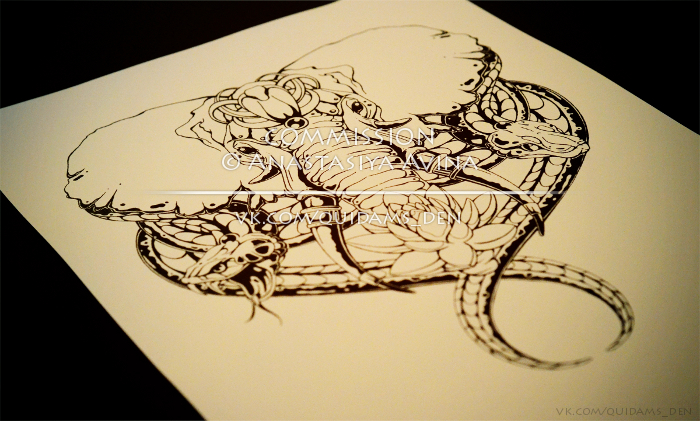 Elephants Snakes FIN Commission Sketch By Quidames On